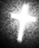 Glowing cross in sky Stock Image