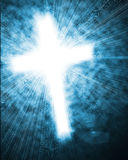 Glowing cross in sky Stock Photos