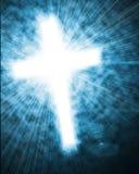 Glowing cross in sky Stock Photos