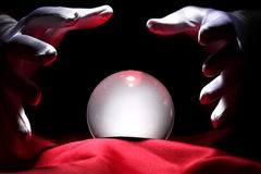 Glowing crystal ball stock photography