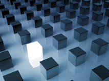 Glowing cube Royalty Free Stock Photography