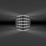 Glowing cube Stock Photography