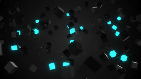 Glowing cubes abstract background Stock Images
