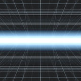 Glowing Cyber Grid Stock Image