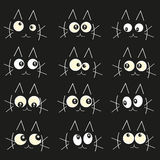 Glowing in the dark cats eyes vector illustration background Stock Photo