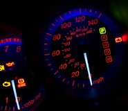 The glowing dashboard Stock Photos