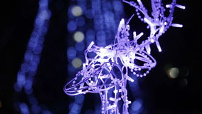 Glowing deer Head stock video footage