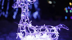 Glowing deer wholly stock video footage