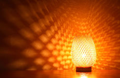Glowing Desk Lamp Royalty Free Stock Images