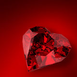 Glowing diamond heart illustration Stock Image