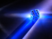 Glowing Dice Royalty Free Stock Photos