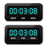 Glowing digital counter - countdown timer Royalty Free Stock Photography