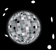Glowing disco ball stock image