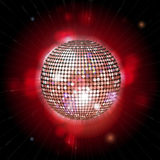 Glowing disco ball with lens flares Royalty Free Stock Photo