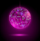 Glowing disco ball with stars. Vector illustration of glowing disco ball with stars Royalty Free Stock Photos