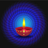 Glowing Diwali Lamp Stock Photo