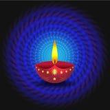 Glowing Diwali Lamp vector illustration