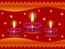 Glowing Diwali Lamps. Decorative Glowing Diwali Lamps Background