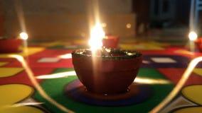 Glowing Diya Stock Photos