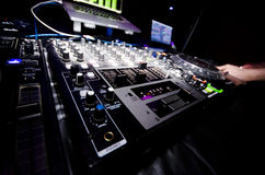 Glowing DJ Nightclub Equipment stock image