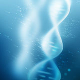 Glowing DNA strand Stock Photography