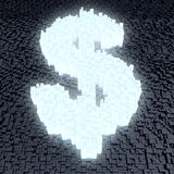 Glowing dollar sign Stock Photos