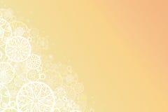 Glowing doodle shapes horizontal background Stock Photography