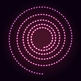 Spiral shape abstract neon lights background. Glowing dots and lines. Spiral shape abstract neon lights background for your design vector illustration