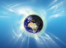 Glowing Earth Stock Image