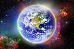 Glowing Earth Royalty Free Stock Photo