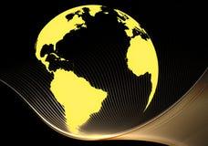 Glowing earth Stock Image