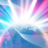 Glowing Earth Stock Photo