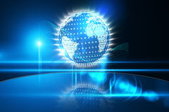 Glowing earth with binary code Royalty Free Stock Photography
