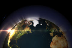 Glowing earth Stock Photography