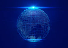 Glowing Earth globe. Stock Image