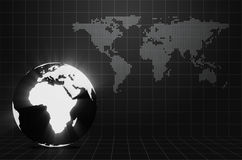 Glowing Earth with place for your text Royalty Free Stock Photos