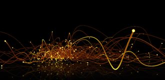 Glowing edges. Abstract Technology background stock illustration