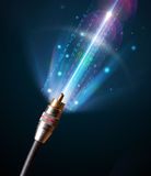 Glowing electric cable Stock Photo