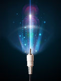 Glowing electric cable Royalty Free Stock Photography