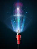 Glowing electric cable Royalty Free Stock Photo