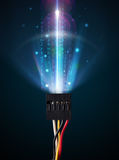 Glowing electric cable Royalty Free Stock Photos