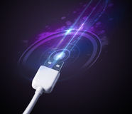 Glowing electric cable Royalty Free Stock Image