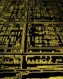 Glowing electronics circuit  Stock Photos