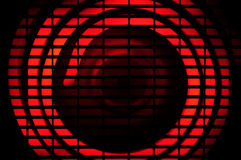 Glowing element. Glowing electrical element in a forced air heater Stock Photos
