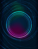 Glowing elements in dark space Royalty Free Stock Photography
