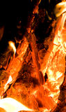 Glowing Ember. Inside a fireplace Stock Photography