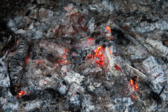 Glowing embers Stock Photo