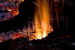 Glowing Embers Stock Photos