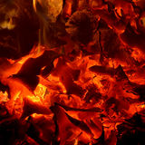 Glowing embers background Royalty Free Stock Photography