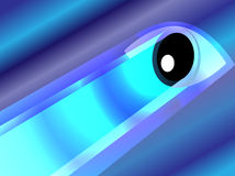 Glowing eye on blue background Stock Images